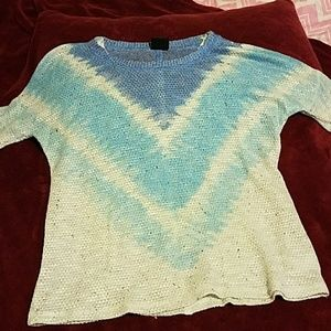 Blue Dyed Knit Shirt